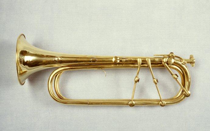 Keyed trumpet in Eb. Mueller, Lyons, c 1830 (3158). | Trumpets