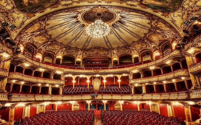 The Opera House in Graz, Austria. Built in neo-Baroque style it is