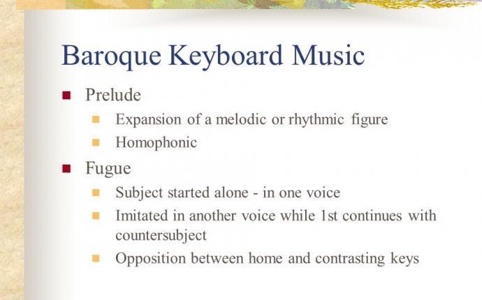 Baroque Keyboard music
