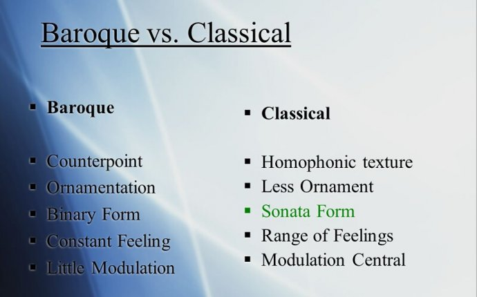 Baroque vs. classical music