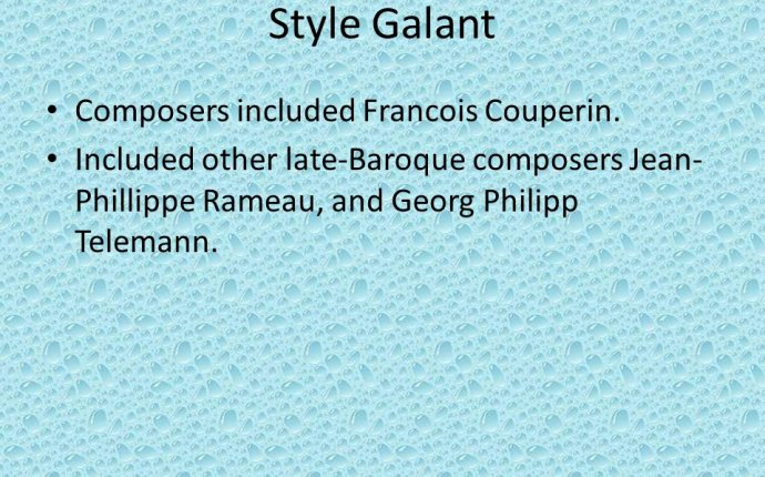 Late Baroque composers