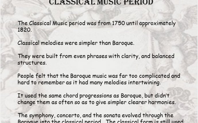 baroque and classical music